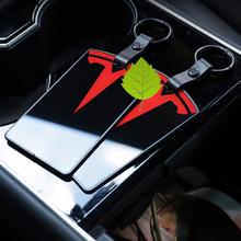 Dla Tesla Model 3 torebeczka na klucze karty 9D szkło hartowane etui na karty obudowa ochronna najwyższej jakości Model trzy uchwyt brelok do kluczy klips tanie tanio CN (pochodzenie) Ze stopu aluminium