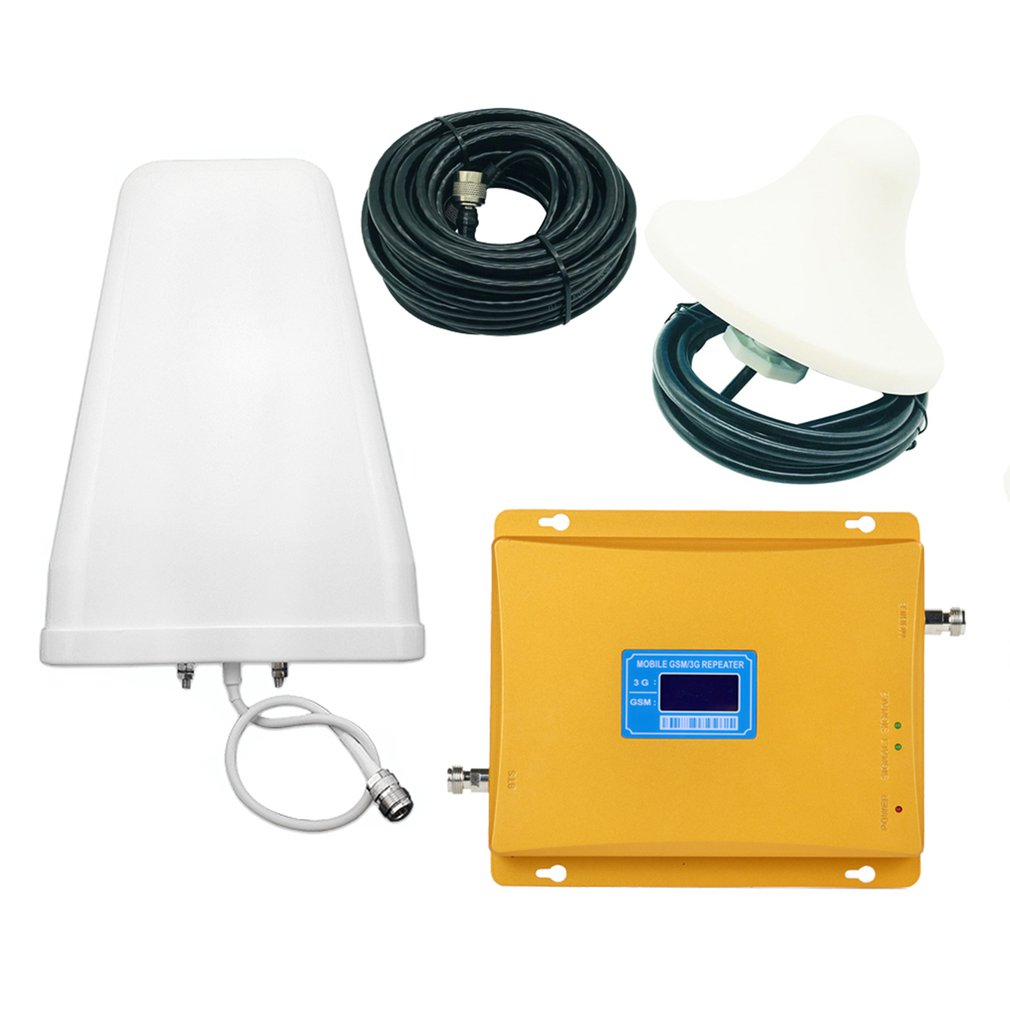 A Dual-band GSM/3G 900/2100MHz Mobile Phone Signal Enhancement Amplifier Up Link 1920-1980MHz Donw Link 2110-2170MHz