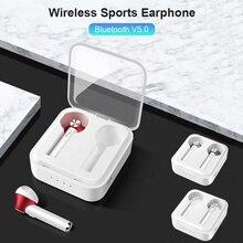 Беспроводные спортивные наушники TWS, Bluetooth 5,0, Автоматическое Сопряжение, 3D HD Hi Fi стерео наушники, 2020