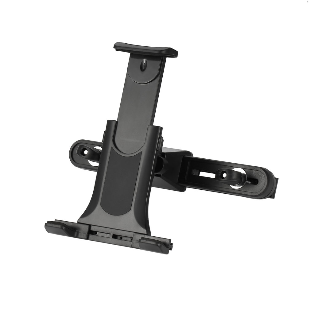 2-in-1 ABS Tablet and Cellphone Adjustable Universal Car Headrest Mount Holder Car Cradle for Mobile Devices Up to 10 inches