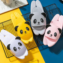 Boy Girl Cartoon Panda Shoes 2020 Summer Todder Animal Kids Indoor Baby Flip Flops PVC Kawaii Infant Beach Casual Slippers Soft(China)