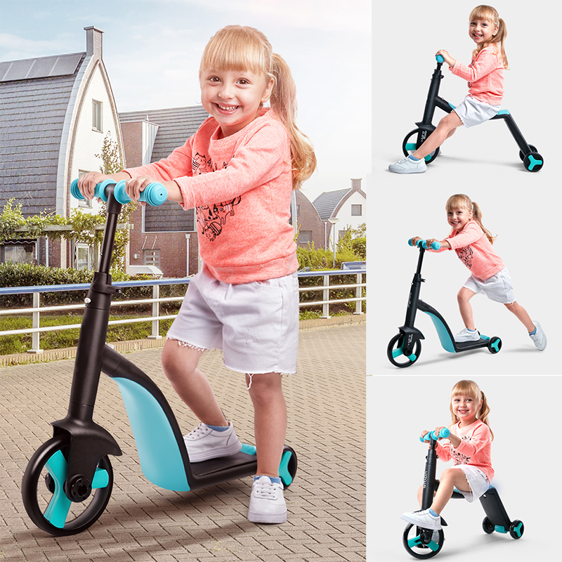 Multi Function Children Scooter Tricycle Baby 3 In 1 Balance Bike Ride On Toys