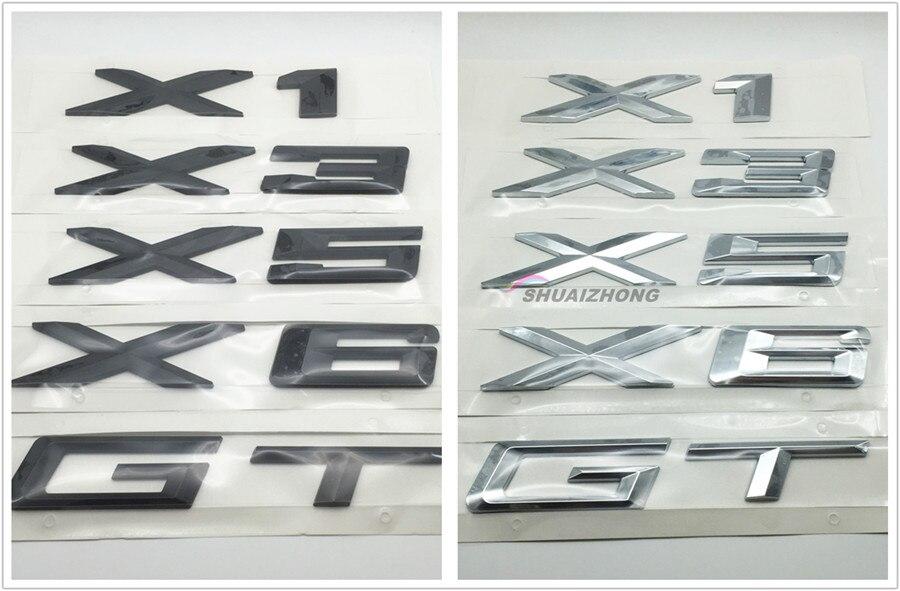 Высококачественные черные или серебряные наклейки на задний багажник автомобиля, наклейки с логотипом, эмблема значок для X1 X3 X5 X6 GT Z4, аксес...