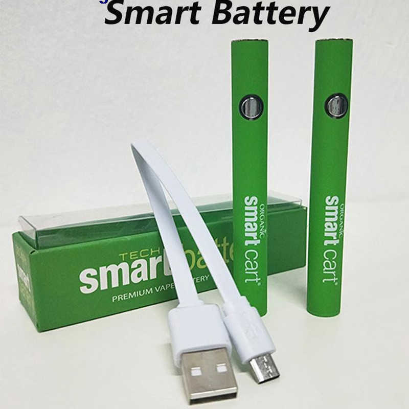 10 шт./лот, умная батарея для 510 нитей, 380 мАч, электронная сигарета, батарея eGo Evod для толстых масляных картриджей CBD, испаритель