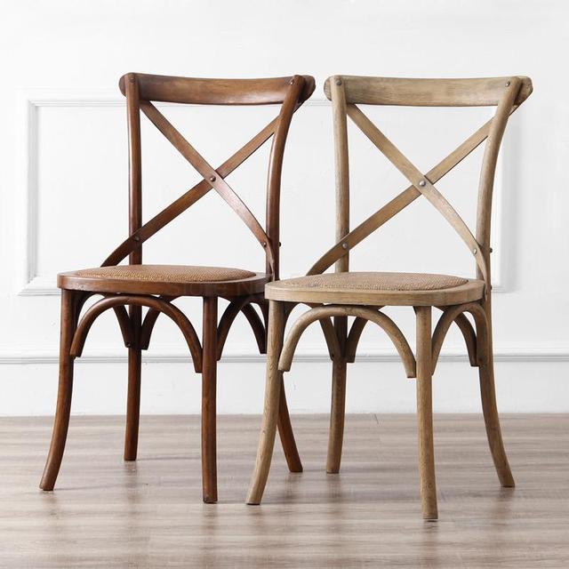 Cross Backed Chair 2