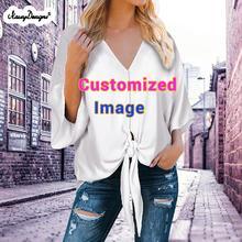 Noisydesigns Free Custom Prints Women Blouse Tunic Summer La
