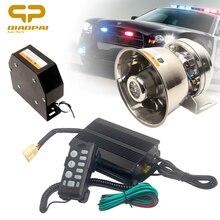 цена на Loud Car Horn Loudspeaker Connect Megaphone 12V Electron 200W Alarm Police Siren Speaker Pa System Warning Sound Multi Tone 9