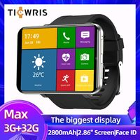 TICWRIS מקסימום 3GB 32GB חכם שעון גברים פנים מזהה מצלמה 2880mAh 2.86