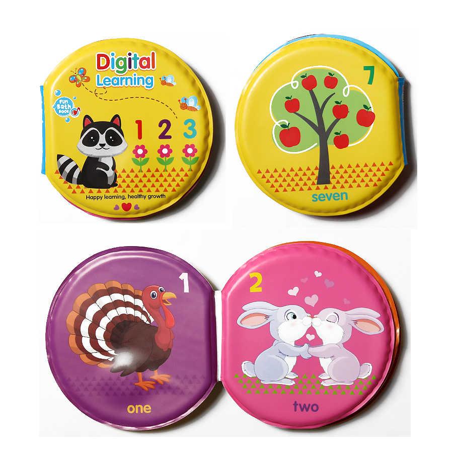 Circulaire Bad Boeken Voor Baby 'S Peuters Waterdichte Drijvende Bad Boek Abc Nummers Dinosaurus Baby Boeken Speelgoed Bad Speelgoed Voor Kinderen