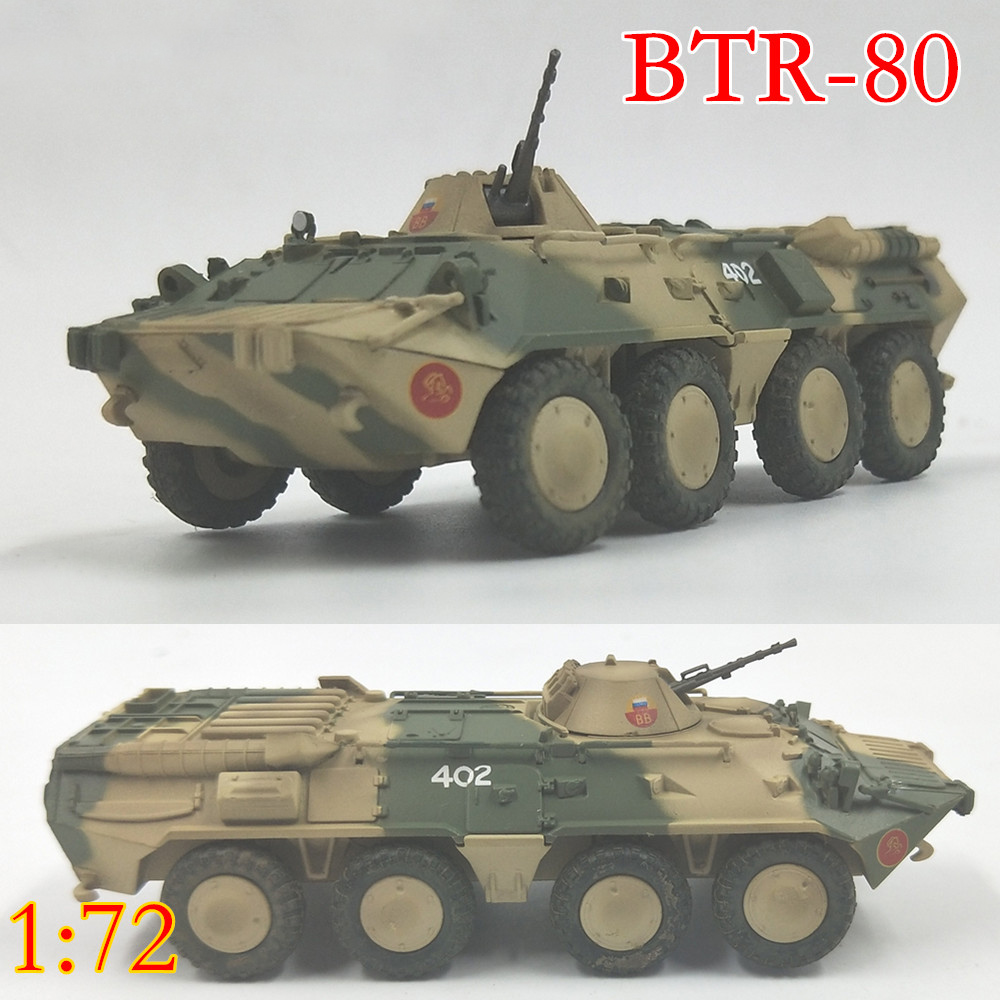 <font><b>Trumpeter</b></font> <font><b>1</b></font><font><b>:</b></font><font><b>72</b></font> Btr-80 wheeled armored vehicle of Russian army of the Soviet Union 35018 finished product model image
