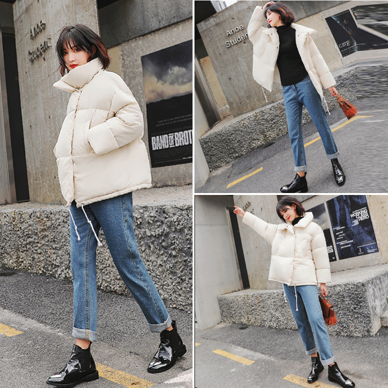 Lady Baggy Puffer Jacket Coat Women Padded Quilt Stand Collar Winter Outwear Oversized in Parkas from Women 39 s Clothing