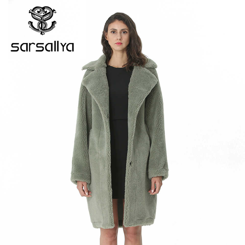 Musim Dingin Wanita Mantel Wol Kasmir Wanita Mantel Panjang Campuran Wol Elegan Jaket Musim Gugur untuk Wanita Tebal Hangat Bulu Pakaian Gadis 2019