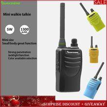 Mini walkie talkie two-way-rádio transceptor rádio comunicador quansheng tg -- k58minis portátil restaurante crianças acampamento