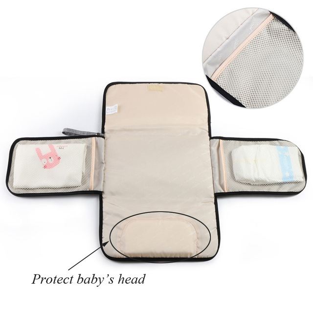 Waterproof Diaper Bag for Baby Care Changing Mat Baby Organizer Bags for Mom Portable Nappy Mommy Maternity Bag 1PC | Happy Baby Mama