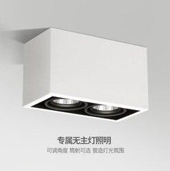 10 szt. Opakowanie  2-lekkie oprawy LED 200X100mm z 120mm wysokości/20 W (2X10 W) lampy sufitowe z bezpośrednim sufitem o wysokości 90mm