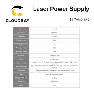 Image 3 - Cloudray 80 100W 80W HY Es80 CO2 Laser Netzteil für CO2 Laser Gravur Schneiden Maschine Es Serie