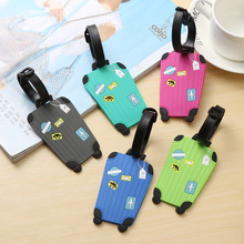 Luggage amp bags Accessories silica gel Cute Novelty Rubber Funky Travel Luggage Label Straps Suitcase Luggage Tags Drop Shipping cheap Crohand 10cm 25gg SH655 geometric bag accessories Cotton tag