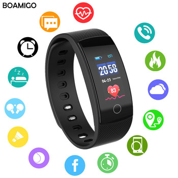 smart watches BOAMIGO brand bracelet wristband bluetooth heart rate Sleep Monitoring for IOS Android phone sport