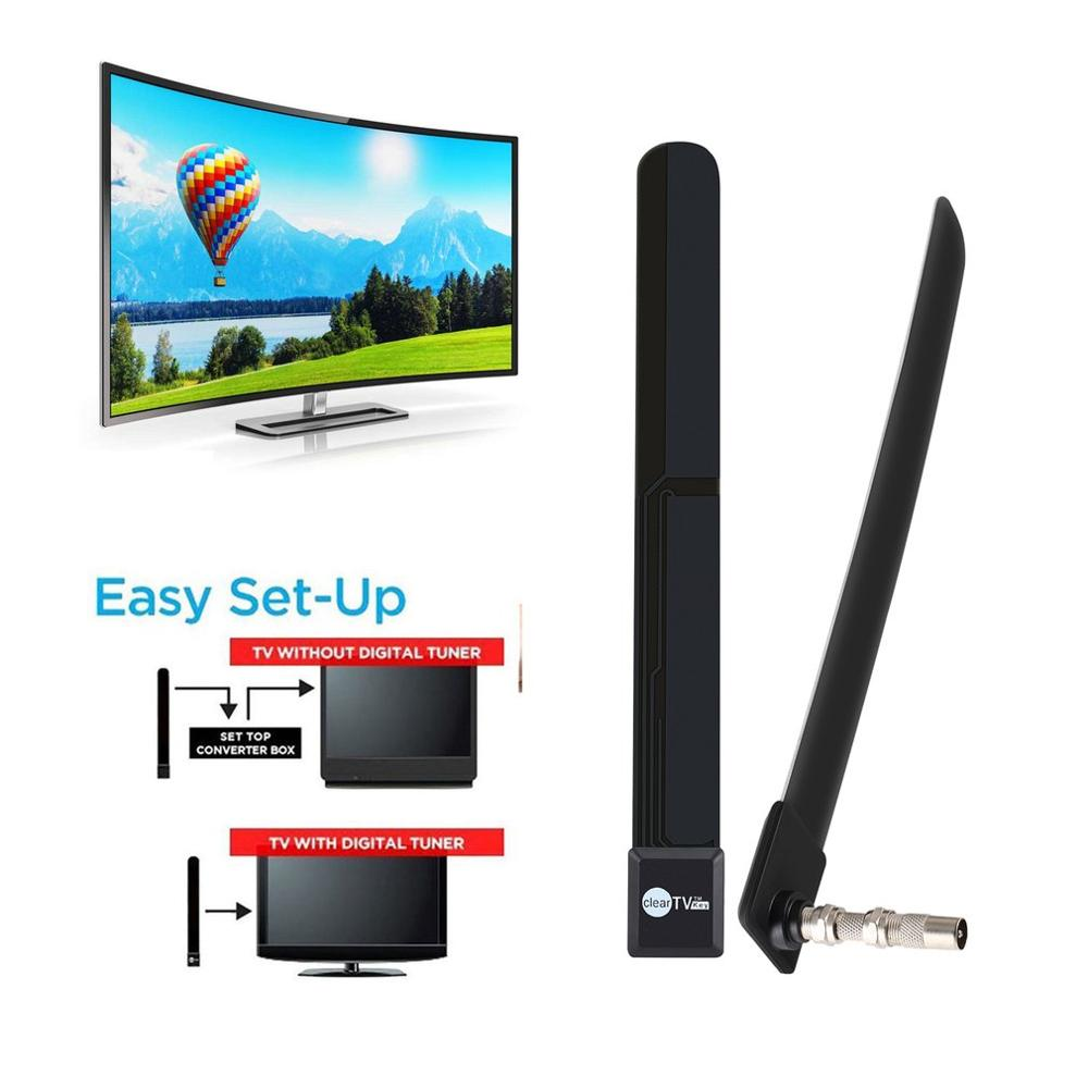 Digital Aerial Clear TV Antenna 1080p HD Ditch Cable HDTV Free TV Stick Indoor Satellite Aerial Signal Enhancement For Home