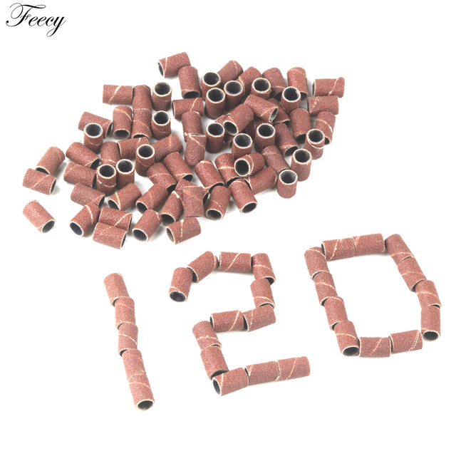 """100pcs 80''/120''/180"""" For Nail Art Sanding Bands Gel Polish Remover Tool Accessory for Electric Nail Machine Nail Drill Bits 4"""