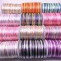 Новинка 5 ярдов 2,0 мм постепенно Меняющие цвет красочные украшения в виде китайского узелка шнур шелковый атлас шнур нейлоновый шнур DIY ручн...