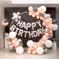 98cm Big Balloon Round Arches Garland White Wedding Flower Wreath Ring Hoop For Christmas Kids 1st Birthday Party Decor Supplies