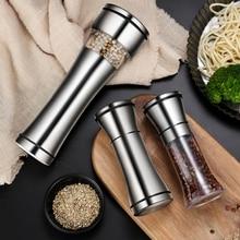 Pepper Grinder Manual Spice Grinder Stainless Steel Salt And Pepper Mill Grinder Seasoning Kitchen Tools spice mill salt pepper manual grinder bottle