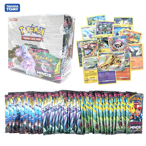 324Pcs/Box Pokemon Card Sun & Moon Evolutions Random Unified Minds Booster Box Collectible Trading Card Game Pokemon Booster GX