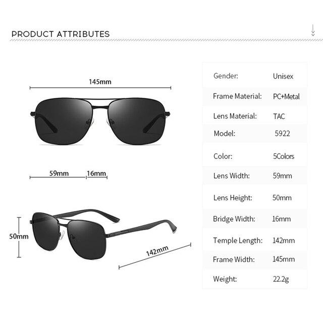 2020 Classic Square Polarized Sunglasses Vintage Men Designer Big Sunglasses Night Driving Sun Glasses UV400 Protection 3
