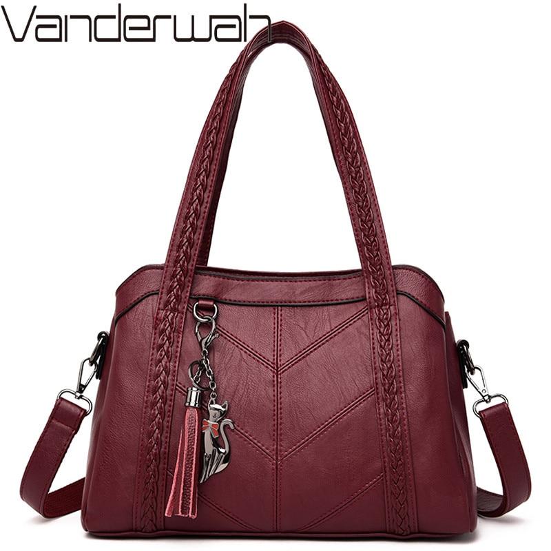 Sac A Main Soft Leather Luxury Handbags Women Bags Designer Ladies Handbag High Quality Tassel Crossbody Bags For Women Tote Bag