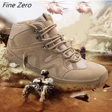 New Men's Desert Tactical Boots Wear-resisting Army Boots Work Safety Men Waterproof Outdoor Hiking