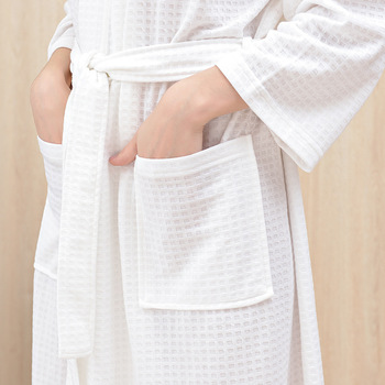 Autumn Winter Bath Robe Dressing Gown Men Women Waffle Water Absorption Quick-dry Sleepwear Bathrobe Nightgown Lovers Home Robes