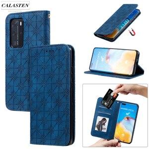 Чехол-книжка для Huawei P40 P40 Pro P Smart Y6 2019 Honor 9A 8A 10 Lite, деловой кожаный чехол для телефона с магнитной 3D подставкой для карт