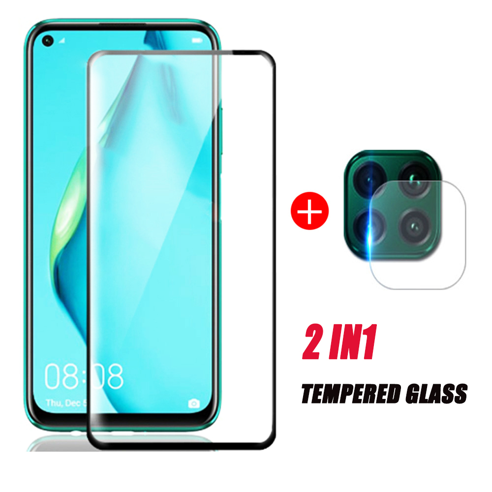 2 In 1camera Lens Tempered Glass For Huawei P40 Lite Screen Protector Hauwei P 40 Light P40lite 40lite P40lite E P40 Screen