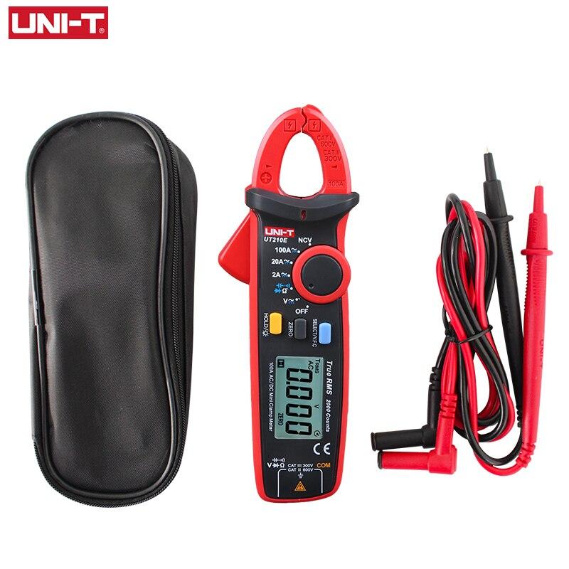UNI-T UNI T Mini Clamp Meter UT210E Digital True RMS AC DC Current Voltage Tester VFC Capacitance Non Contact Multimeter Clamp