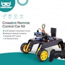 שלט רחוק חכם רובוט רכב 4WD מארז ערכת עם קולי מודול, מרחוק לarduino DIY קיט