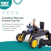 Pilot inteligentny Robot samochodowy 4WD zestaw podwozia z moduł ultradźwiękowy, pilot do zestawu Arduino DIY