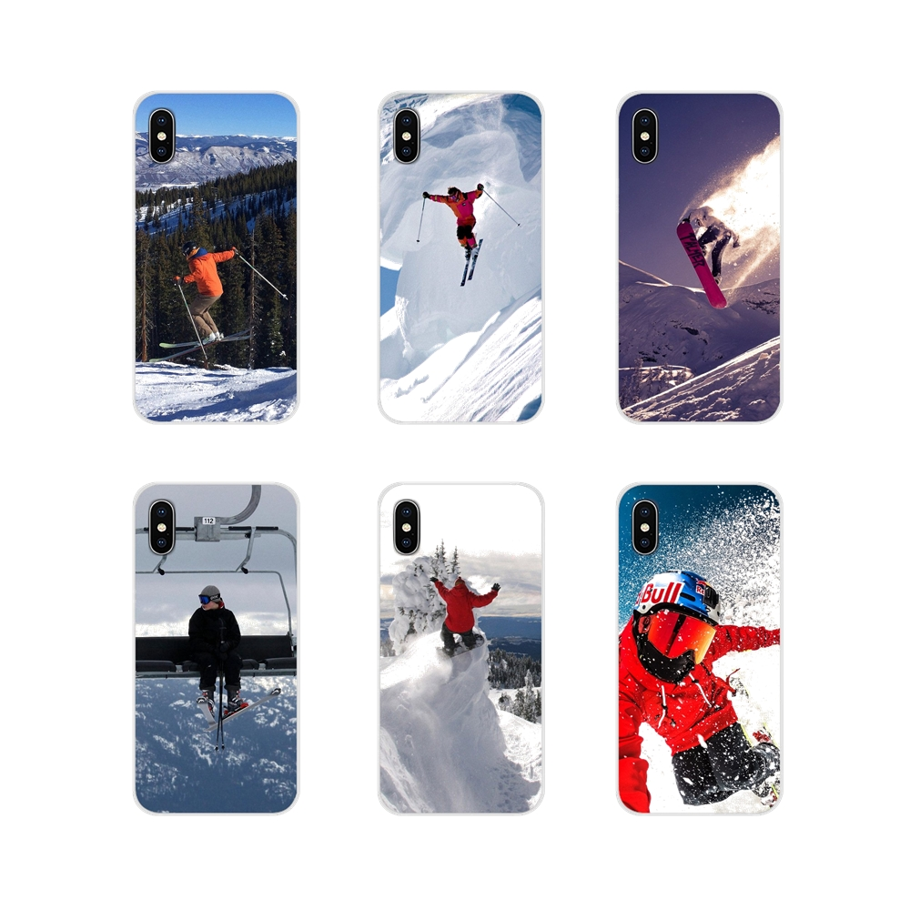 For Samsung A10 A30 A40 A50 A60 A70 Galaxy S2 Note 2 3 Grand Core Prime Snow Or Die Ski Snowboard Sport Silicone Phone Skin Case