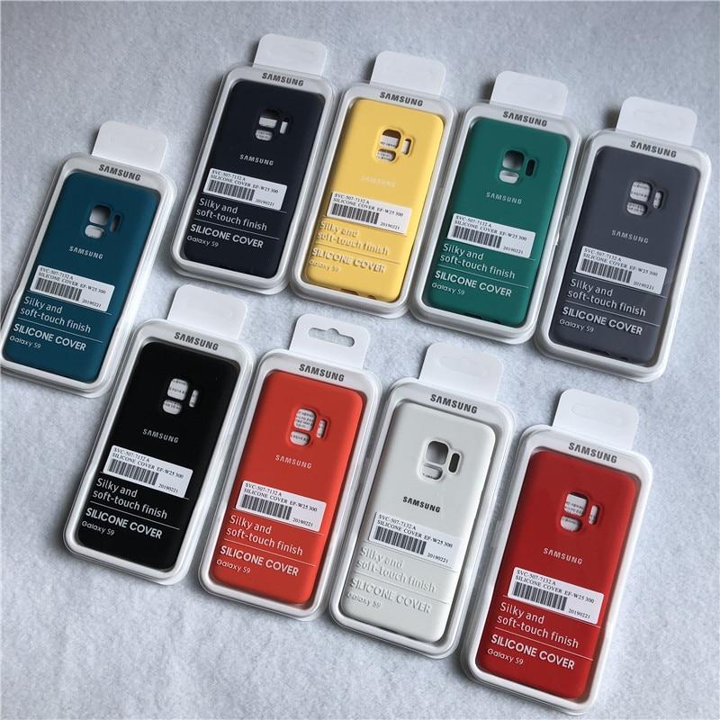 Оригинальный чехол для Samsung Galaxy S9 Plus, шелковистый мягкий на ощупь чехол из жидкого силикона, стильный защитный чехол для Galaxy S9 + Plus