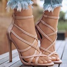 Shoes Women High Heels Women Pumps Sandals Sexy Ladies Shoes Cross-tied Zipper High Heels Summer Pumps Fashion Party Sandals цена 2017