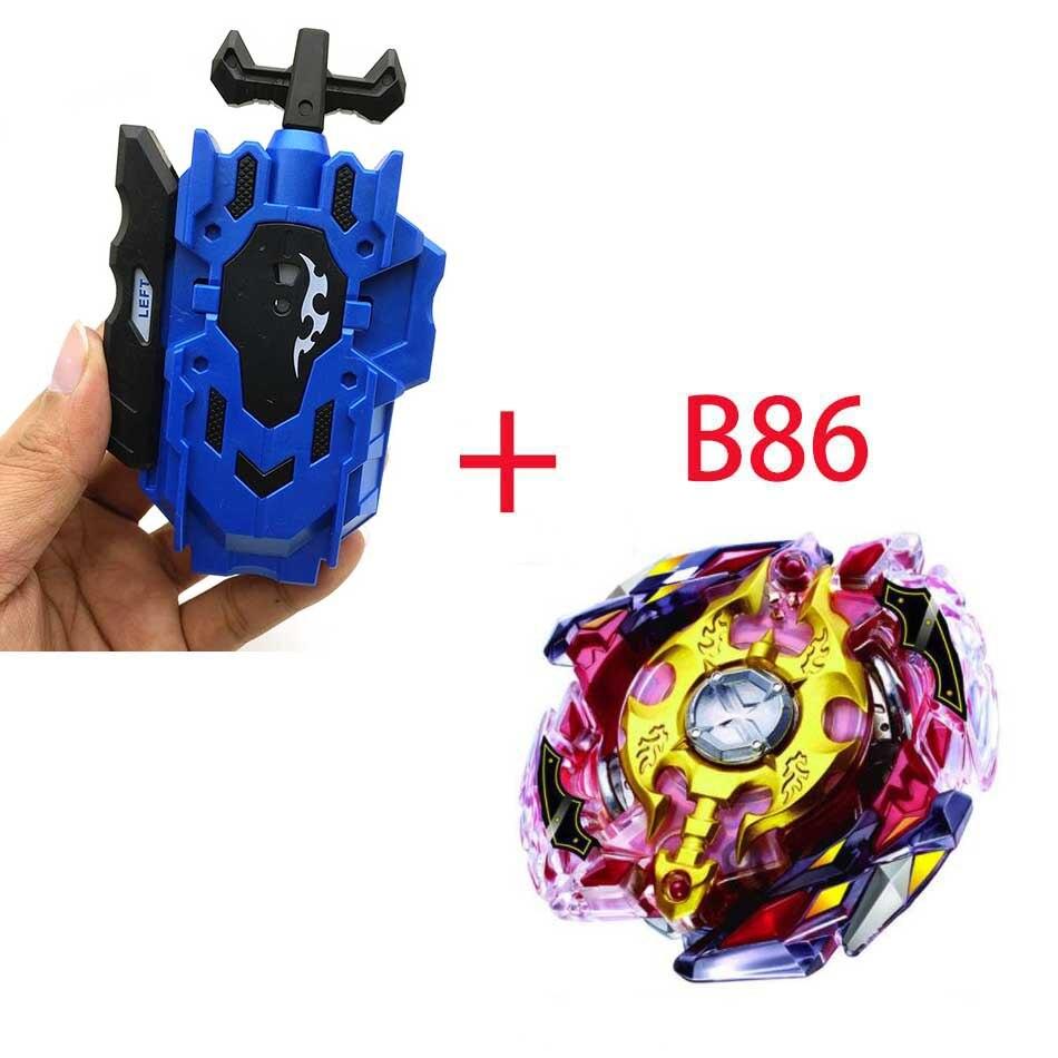 Волчок Beyblade BURST B-130 B-117 с пусковым устройством Bayblade Bay blade металл пластик Fusion 4D Подарочные игрушки для детей - Цвет: B86