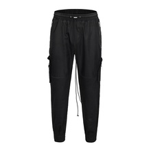 QoolXCWear Hip Hop Harem Men Joggers Pants 2019 Male Trousers Black Jogger Elastic Waist Casual Mens L048