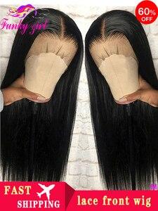 Перуанские прямые волосы 13x6 Синтетические волосы на кружеве человеческих волос парики для волос с детскими волосами Волосы Remy Синтетическ...