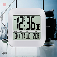 JIMEI H809 Simple Digital Wall Clock Jumble screen large number With Alarm Temperature Calender for decorative household use