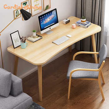 Cordial Shining Office Desk Wooden Desktop Simplicity Thicken Scratch Resistant Round Edge Home Student Writing Desk - DISCOUNT ITEM  40 OFF All Category