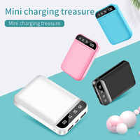 FLOVEME Mini Power Bank Dual Tragbare Schnelle Lade Batterie Power 10000mAH Reise Digital Display Poverbank für iPhone Xiaom