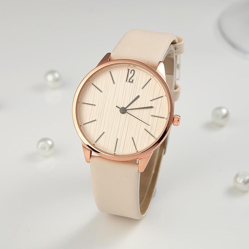 Часы наручные женские с кожаным ремешком, модные стильные простые, для молодых девушек Женские часы    АлиЭкспресс
