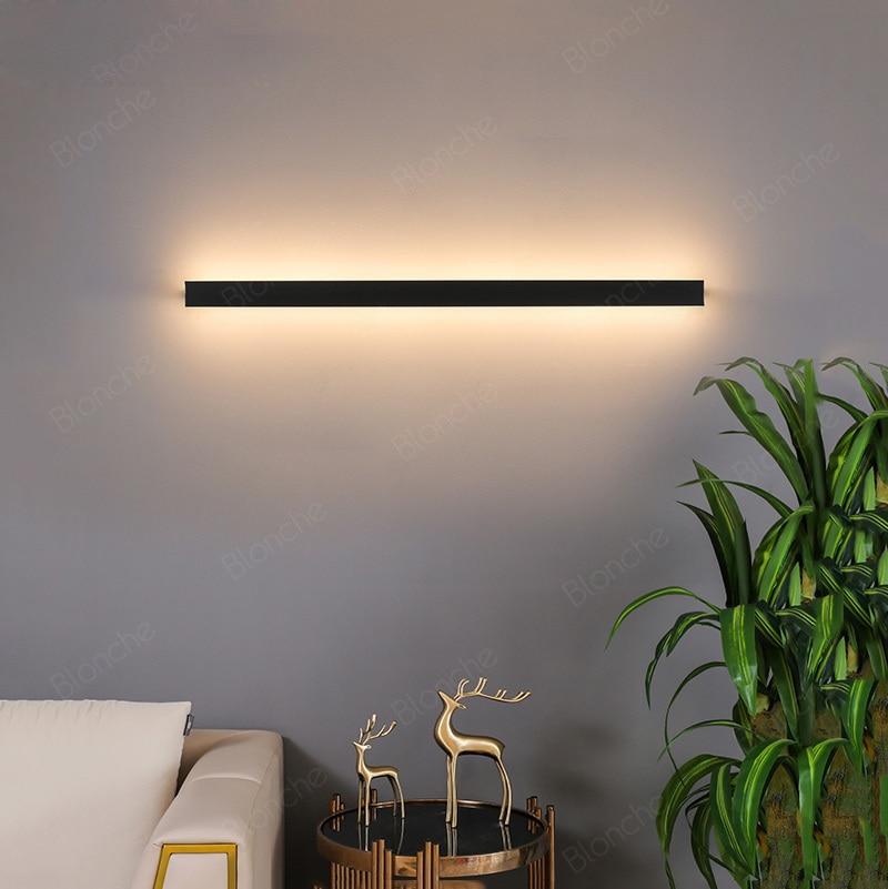 Modern Corner Wall Lamps Minimalist Line 50 60 80 100cm Led Wall Lights Hallway Sconces Bedroom Bedside Living Room Led Lights Led Indoor Wall Lamps Aliexpress