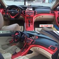 For Honda Spirior 2009 2013 Interior Central Control Panel Door Handle 3D/5DCarbon Fiber Stickers Decals Car styling Accessorie