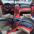 Pour Honda Spirior 2009-2013 intérieur Central panneau de commande poignée de porte 3D/5DCarbon fibre autocollants décalcomanies voiture style accessoire